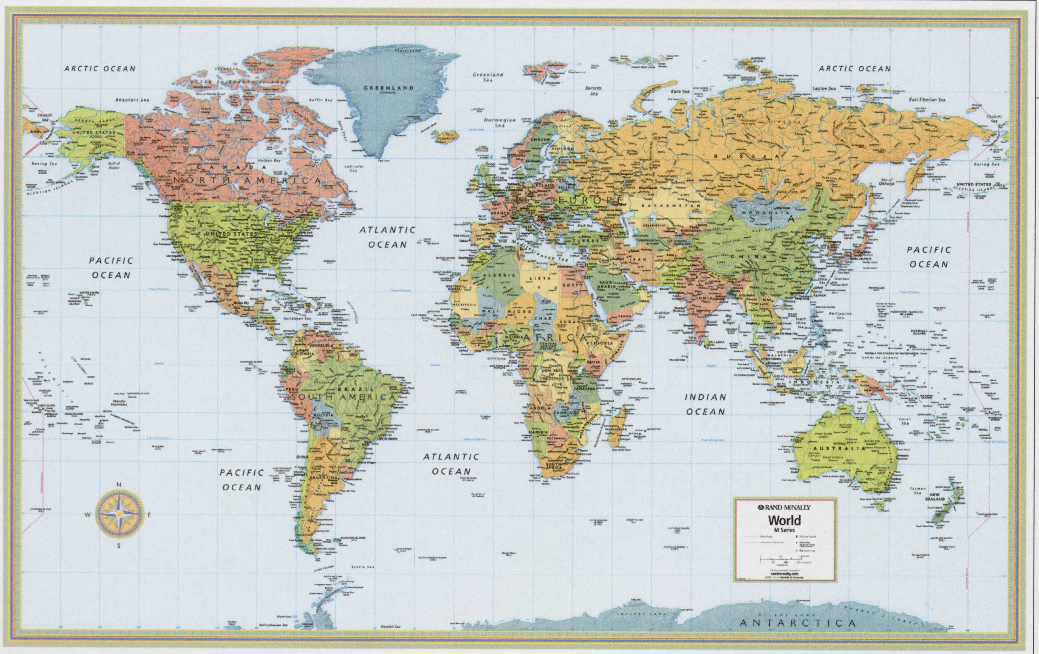 World Map Topographic