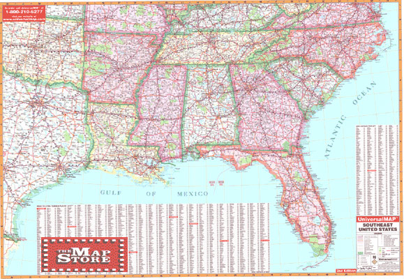 center pet southeastern map usa wide world